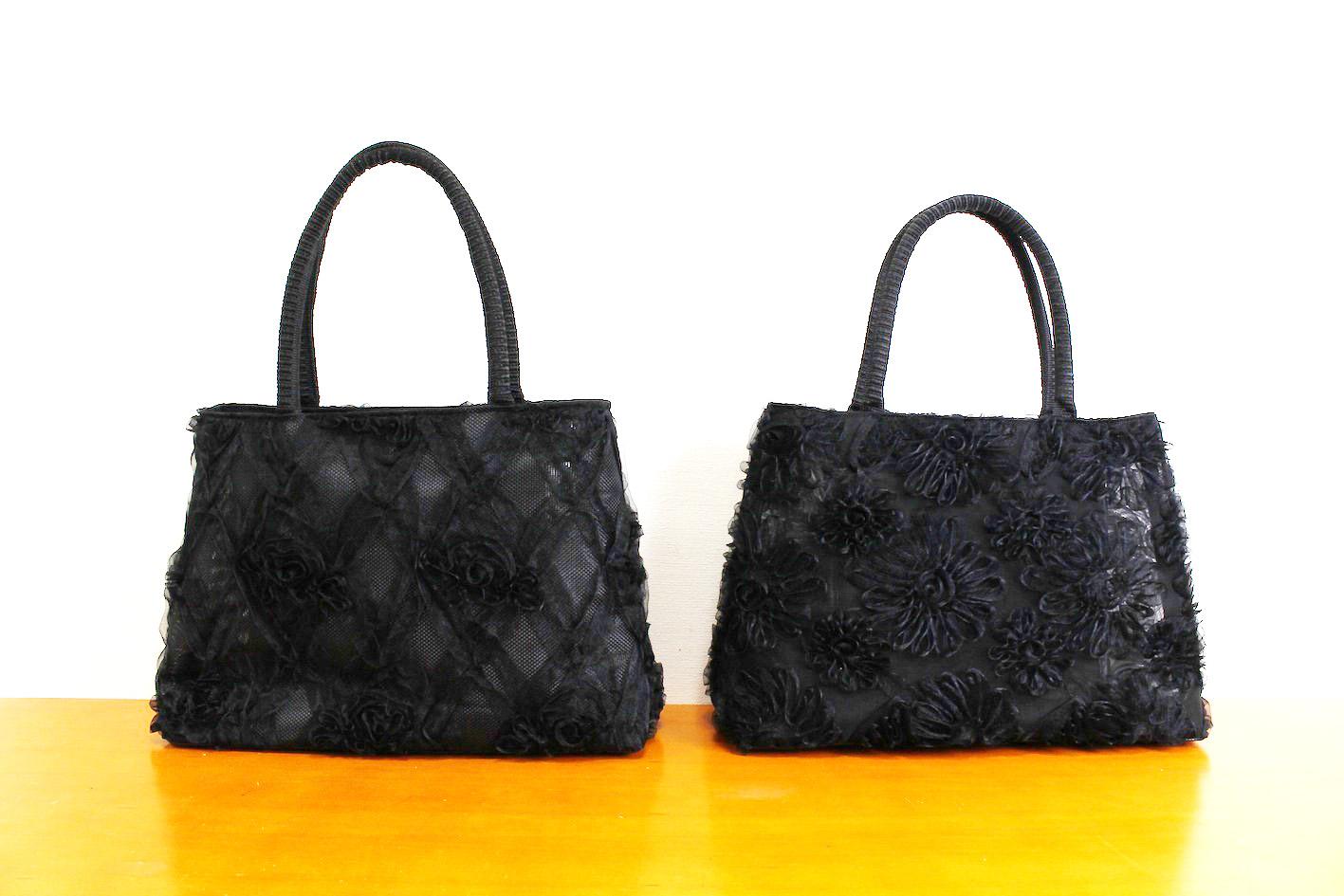 Ribbon lace bag(Plaid)_1