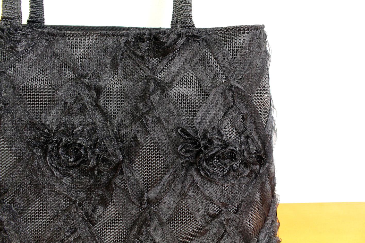 Ribbon lace bag(Plaid)--3