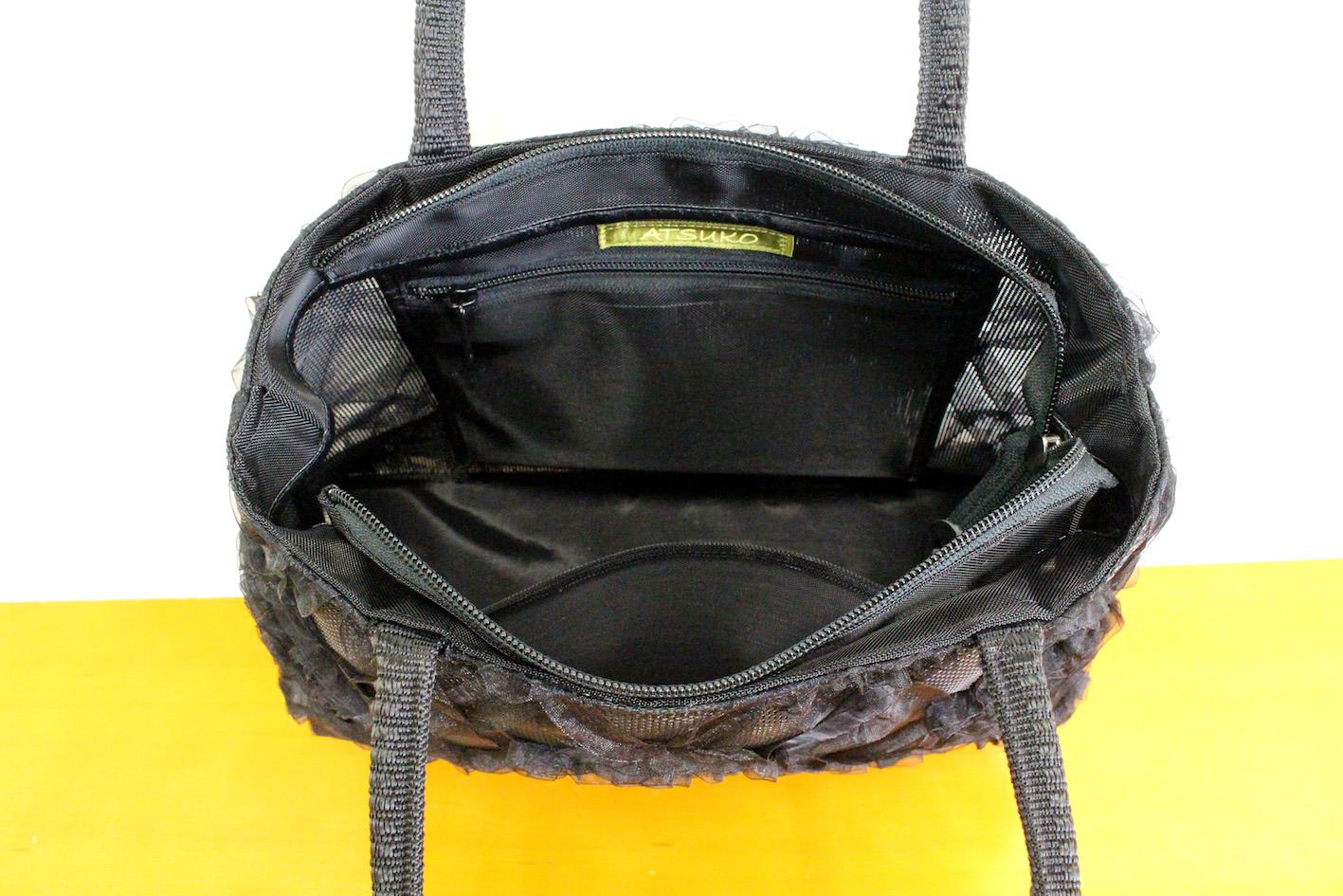 Ribbon lace bag(Plaid)--4