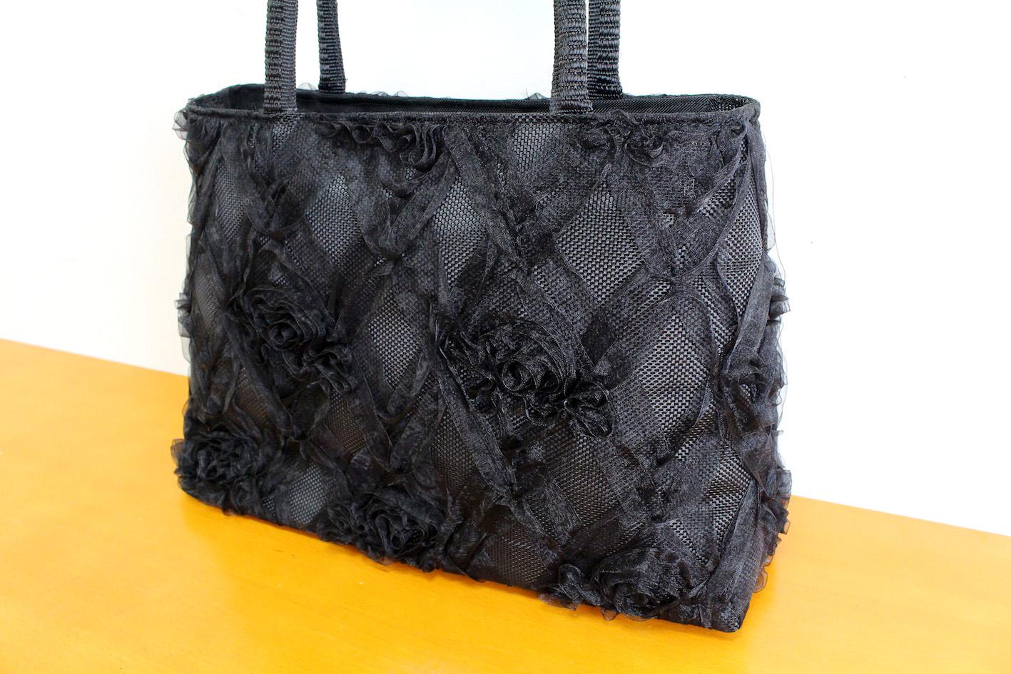 Ribbon lace bag(Plaid)--2