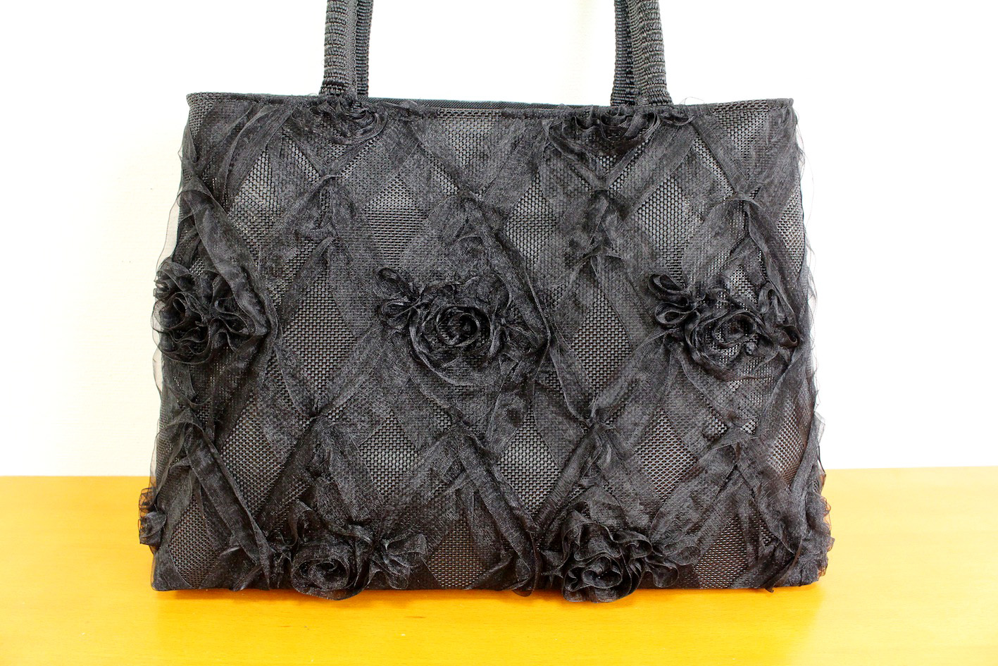 Ribbon lace bag(Plaid)--1