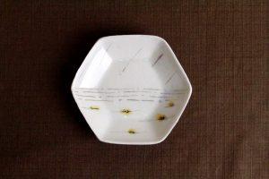西山千代子/六角豆皿...