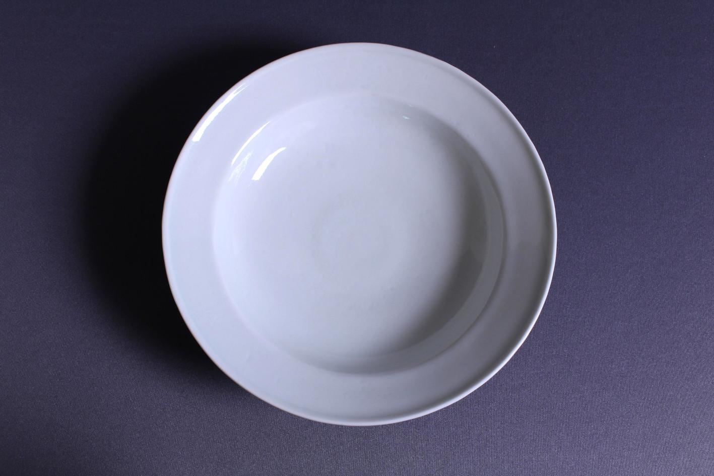 石田誠 / 7寸ハットボウル(グレーホワイト)