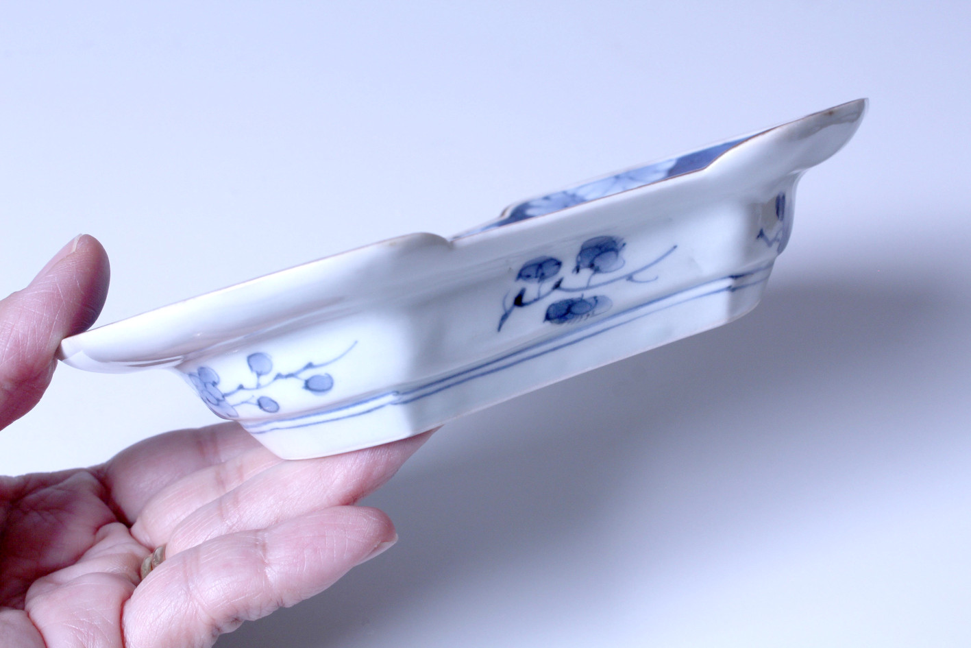 浜野まゆみ / 染付兎紋分銅形皿