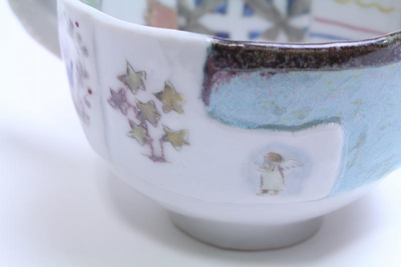 西山千代子/はりあわせマグカップ(天使)