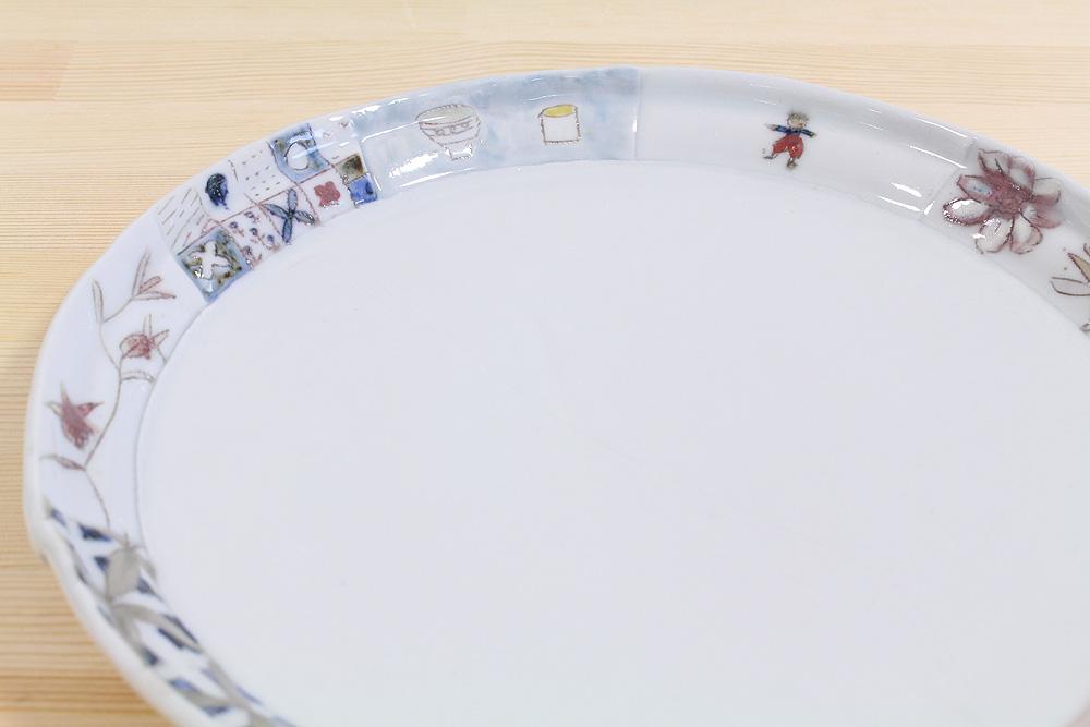 西山千代子/はりあわせ丸大皿