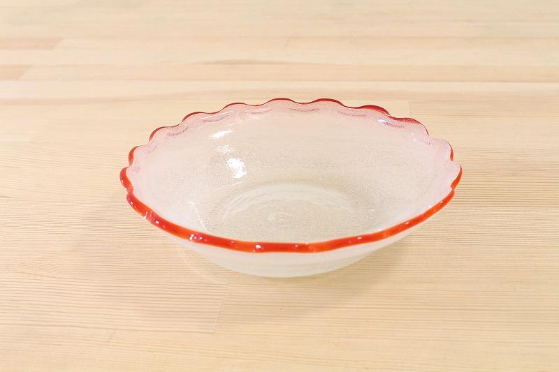 西川孝次 / ふち赤泡小鉢
