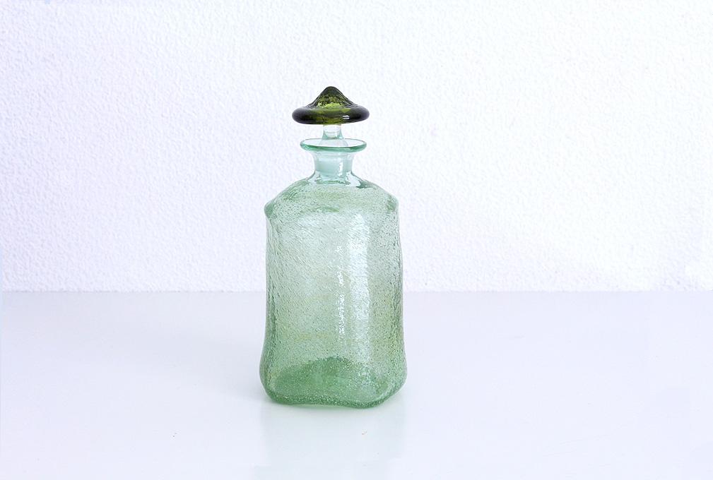 西川孝次 /うぐいすリキュール瓶(青系)